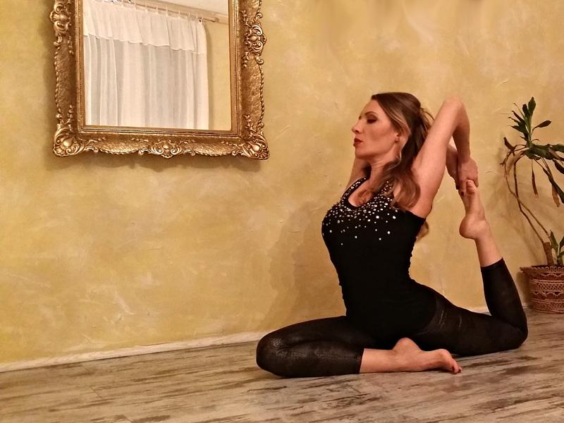 Radmila Knezevic, licenced yoga instructor of the Vidya Voga School