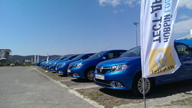 Event organization by Meridian DMC- test driving of the new Renault Logan for Russian market