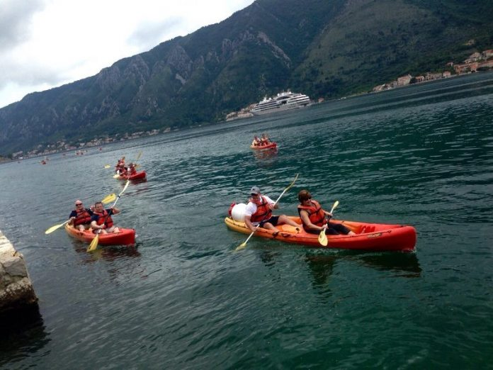 kayaking activities through Boka bay