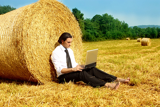 Businessman rural