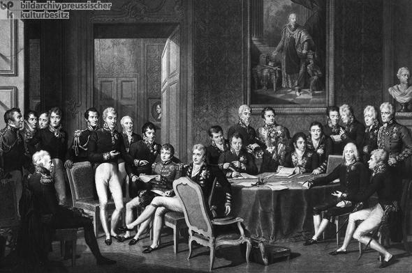 Geschichte / Deutschland / 19. Jh. / Friedrich Wilhelm III. / Regierungszeit / Vormärz / Wiener Kongreß 1814-15
