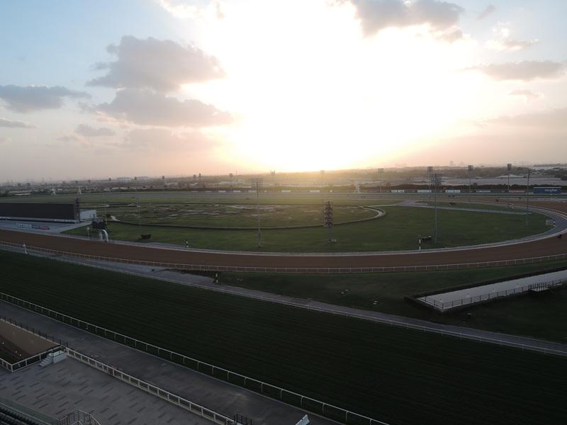 Meydan hotel gleda na teren za konjske trke (Dubai World Cup se ppvde održava svake godine)
