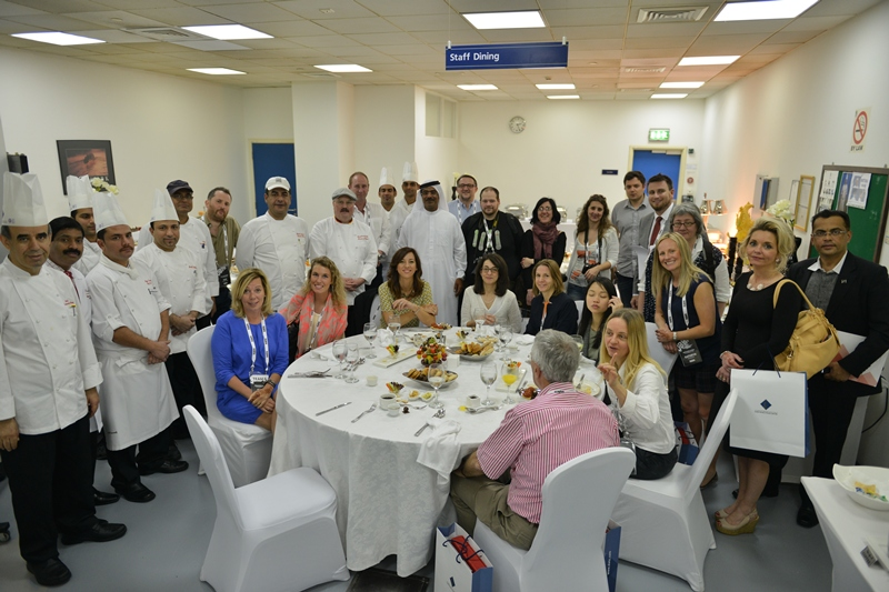 Management and the team of World Trade Center kitchen (Hospitality catering) together with representatives of leading European medias of meetings industry