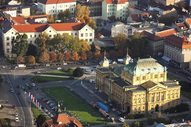 Hrvatsko narodno kazalište iz zraka