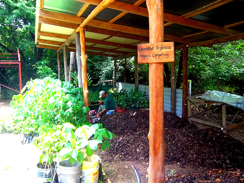 Organic composting system The Harmony Hotel Costa Rica
