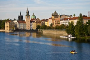 Prague - river bank