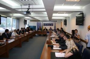 Učesnici na okruglom stolu na temu krivična dela počinjena iz mržnje, 30. jun 2010. godine